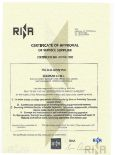 RINA In Water Servey Certificate