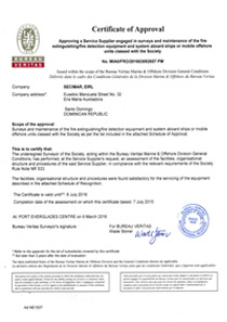 Certificate of Approval BVV Fire Extinguishers, Fire Detection Equipment and System